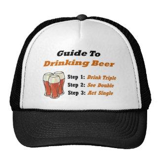Drinking Beer Full Trucker Hat