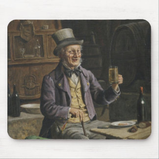 Drinking Beer Painting Mouse Pad