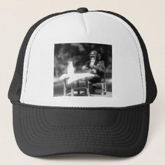 Drinking Chimpanzee Vintage National Zoo Trucker Hat
