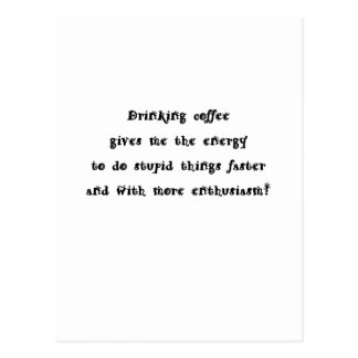 Drinking coffee post cards