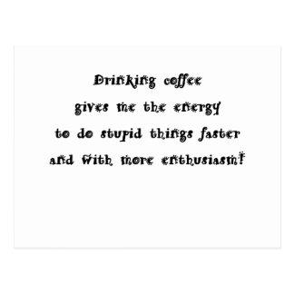 Drinking coffee post card
