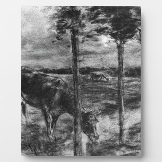 Drinking cow by Max Liebermann Plaque