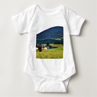 Drinking Cows On Pasture With A Hill In The Backgr T Shirt
