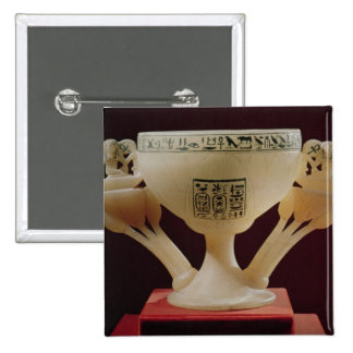 Drinking cup in form of a half-opened lotus pinback button