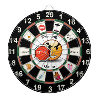 Drinking Dart Board Game with happyface