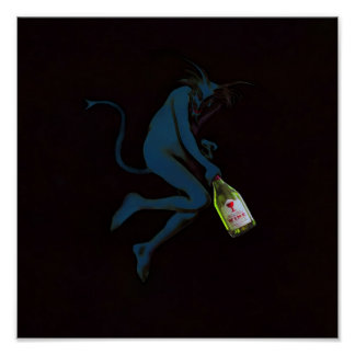 Drinking Devil ~ Print Poster