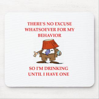 DRINKing drunk joke Mouse Pad