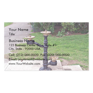Drinking fountain business card template