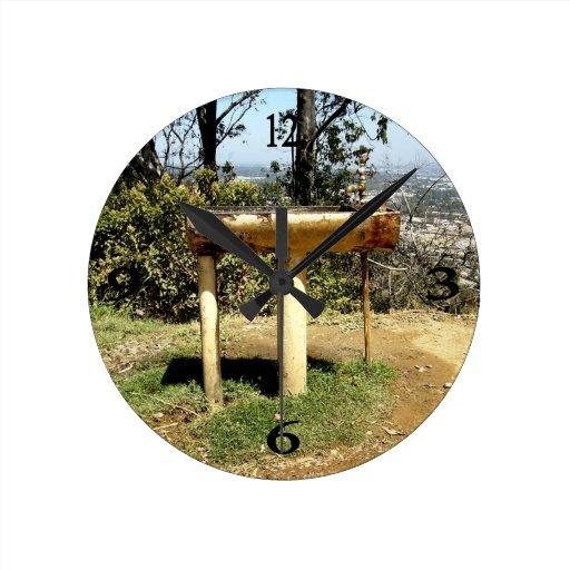 Drinking Fountain Round Wallclock