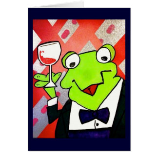 Drinking Frog Coasters Card