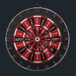 "Drinking Game in Black and Red Dartboard<br><div class=""desc"">TO REQUEST EDITS TO THE BOARD DESIGN PLESE CONTACT ME AT cooldartboards@gmail.com. Custom boards are $85 (Matt, Zazzle keeps giving me a 404 when I try to reply to you) Dark Sections (""safe"" spots): Give Drink They Drink Pass Add Drink to Group Cup Give 2 Drinks Light Section (drink drink...</div>"