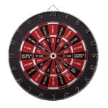 Drinking Game in Black and Red Dartboard With Darts