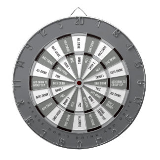 Drinking Game in Black and White and Gray Dartboard With Darts