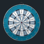 """Drinking Game in Blue Dartboard With Darts<br><div class=""""desc"""">Dark Sections (""""safe"""" spots):   Give Drink   They Drink   Pass   Add Drink to Group Cup   Give 2 Drinks   Light Section (drink drink drink):   All Drink   Guys Drink   Girls Drink   Drink 1   Drink 2   Drink Group Cup</div>"""