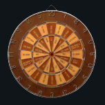 """Drinking Game in Faux Inlaid Wood Dartboard With Darts<br><div class=""""desc"""">This unique board has an image of wood printed on the board&#39;s surface.   Dark Sections (&quot;safe&quot; spots):   Give Drink   They Drink   Pass   Add Drink to Group Cup   Give 2 Drinks   Light Section (drink drink drink):   All Drink   Guys Drink   Girls Drink   Drink 1   Drink 2   Drink Group Cup</div>"""