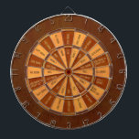 "Drinking Game in Faux Inlaid Wood Dartboard With Darts<br><div class=""desc"">This unique board has an image of wood printed on the board&#39;s surface.