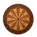 Drinking Game in Faux Inlaid Wood Dartboards