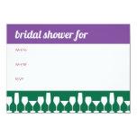 "Drinking Glasses Bridal Shower Invitation 4.5"" X 6.25"" Invitation Card"