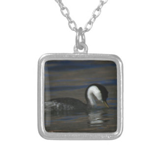 Drinking Grebe Silver Plated Necklace