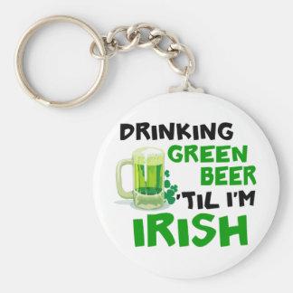 Drinking Green Beer 'Til I'm Irish 1 Key Chain