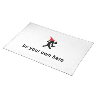 Drinking Hero Cloth Placemat