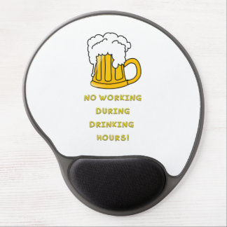 Drinking hours funny text gel mouse pad