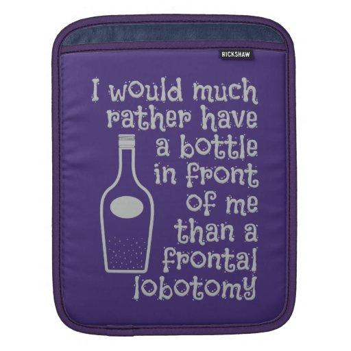 Drinking humor custom color iPad sleeve
