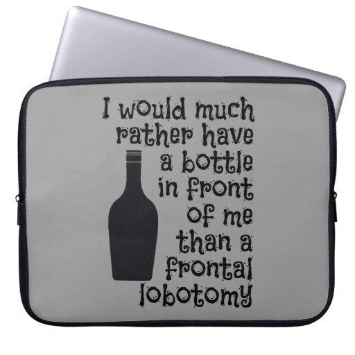 Drinking humor custom color laptop sleeve