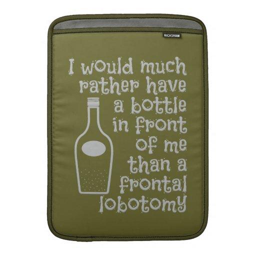 Drinking humor custom color MacBook sleeve