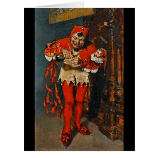 Drinking Jester 1875 Large Greeting Card