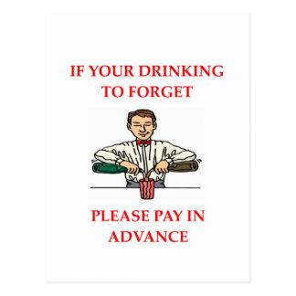 drinking joke postcard