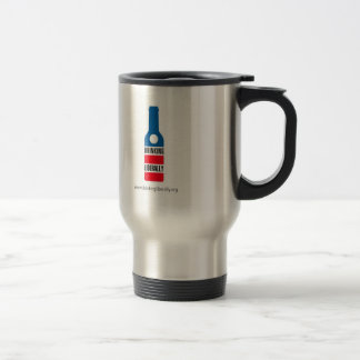Drinking Liberally Thermos 15 Oz Stainless Steel Travel Mug