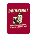 Drinking: May Cause Memory Loss Worse Rectangular Photo Magnet