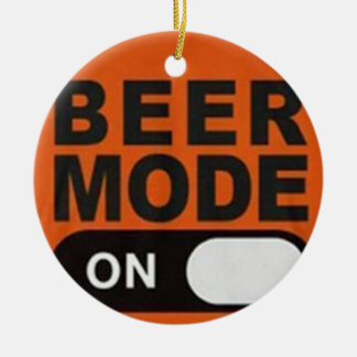 """DRINKING MODE ON"" CHRISTMAS ORNAMENT"