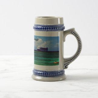 Drinking mug with photo of a cruise ship