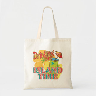 Drinking on Island Time Budget Tote Bag