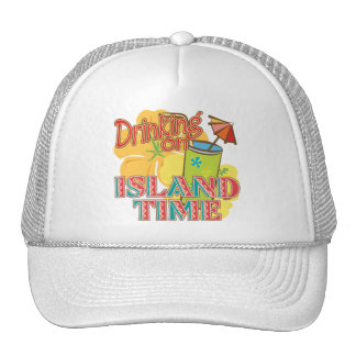 Drinking on Island Time Mesh Hats