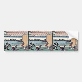 Drinking party at restaurant by Andō,Hiroshige Bumper Sticker