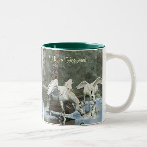 DRINKING PEGASI & TOTEMS Fantasy Art Mug