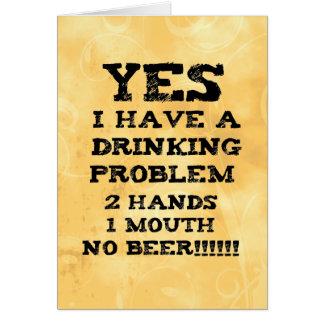 Drinking Problem Card