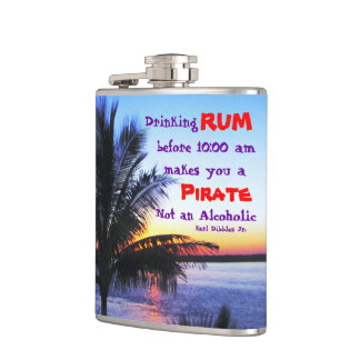 Drinking Rum before 10 am Hip Flask