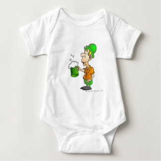 drinking st patricks design baby bodysuit