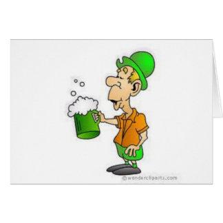 drinking st patricks design card