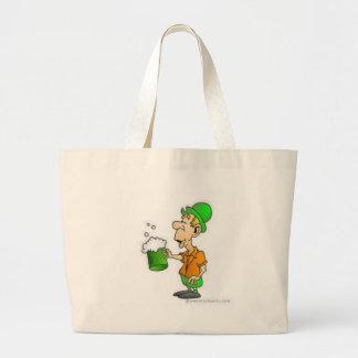 drinking st patricks design large tote bag