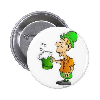 drinking st patricks design pinback button