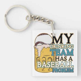 Drinking Team Baseball Keychain