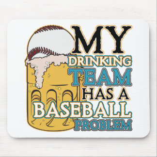 Drinking Team Baseball Mouse Pad
