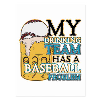 Drinking Team Baseball Postcard