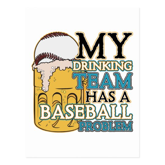 Drinking Team Baseball Postcard