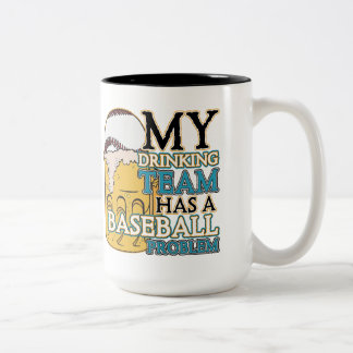 Drinking Team Baseball Two-Tone Coffee Mug
